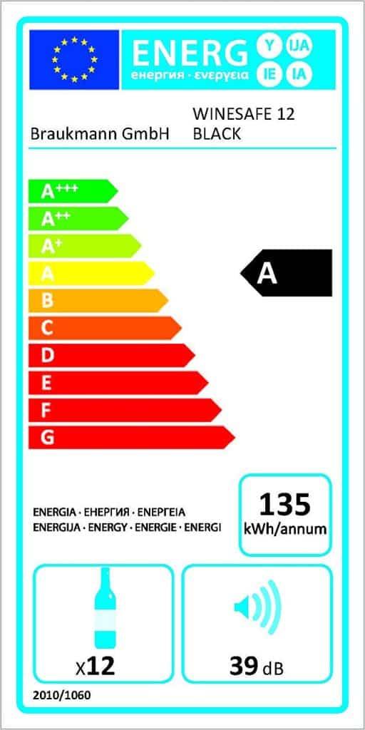 classe energetica caso 624 wine safe 12